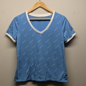 Champion T-Shirt Light Blue V-Neck